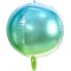 Ballon Miroir Ombré Bleu Vert Lagon Fête - Ballon Orb
