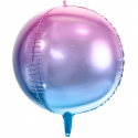 Ballon Miroir Ombré Rose Parme  Fête - Ballon Orb