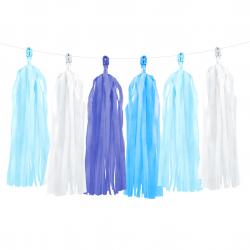 Guirlande de Pompons Tassels Bleu - Anniversaire pour Enfants