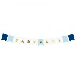 Banderole à fanions Baby Boy - C'est un Garçon Baby Shower