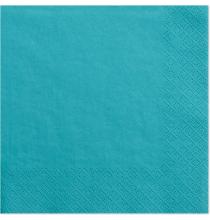 Serviettes en Papier Bleu Turquoise - Vaisselle jetable