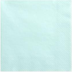 Serviettes Papier Bleu Pastel Vaisselle Jetable de Fête