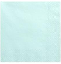 Grandes Serviettes Papier Bleu Pastel Vaisselle Jetable de Fête