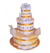 Gâteau de couches mixte J'aime Maman et Papa en Pampers