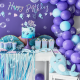 Serviettes Coquillage Rose Pastel  Petite Baleine Holographiques - Anniversaire pour enfants