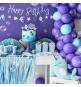 Banderole Décoration Thème Petite Baleine Holographiques - Anniversaire pour enfants