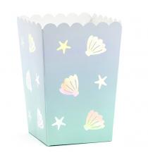 Boîtes à Pop Corn Thème Petite Baleine Holographiques - Anniversaire pour enfants