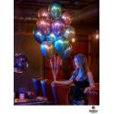 Ballon Chromé à l'unité - nouveauté Qualatex Latex Argent Fête