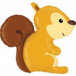 Ballon Alu XL en forme d'écureuil