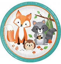 Grandes Assiettes - Anniversaire Animaux de la forêt