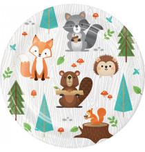 Petites Assiettes à dessert - Anniversaire Animaux de la forêt