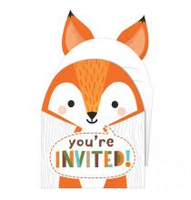 8 Invitations à Thème Renard  - Anniversaire Animaux de la forêt