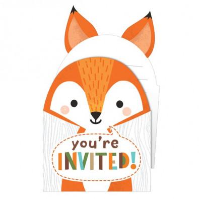 Anniversaire Animaux.Cartes D Invitation Forme De Renard Anniversaire A Theme Enfant