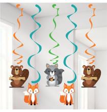 5 Guirlandes à Suspendre - Anniversaire Animaux de la forêt