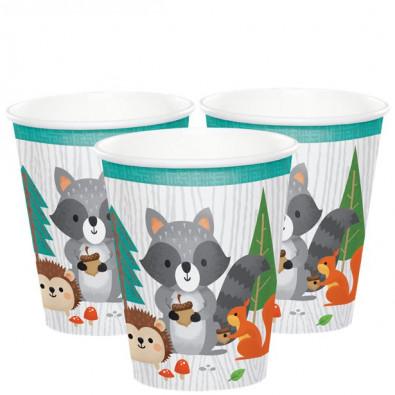 Gobelets en papier  - Anniversaire Animaux de la forêt