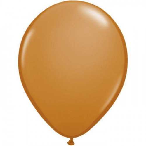 100 Mini Ballons Latex Mocha Marron Clair Fête - 5 pouces 12cm