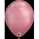 Ballon Chromé à l'unité - nouveauté Qualatex Latex Mauve Rose Gold Fête