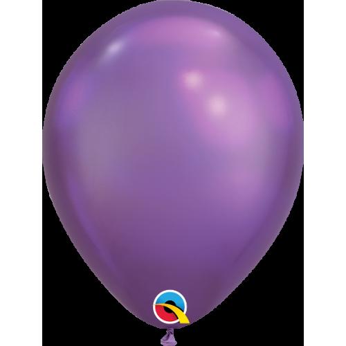 8 Ballons Gonflables Latex Nacré Violet Electrique