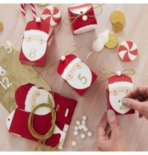 Kit - Calendrier de l'avent DIY Père Noël