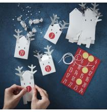 Kit - Calendrier de l'avent DIY Petit Renne