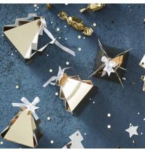 Kit - Calendrier de l'avent DIY Sapin de Noël Doré Brillant