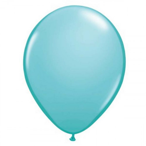 100 Ballons Gonflables Latex Bleu Caraïbes Turquoise - Qualatex