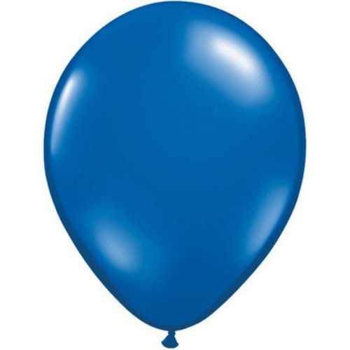 10 Ballons Latex Bleu Nuit Fête - 11 pouces