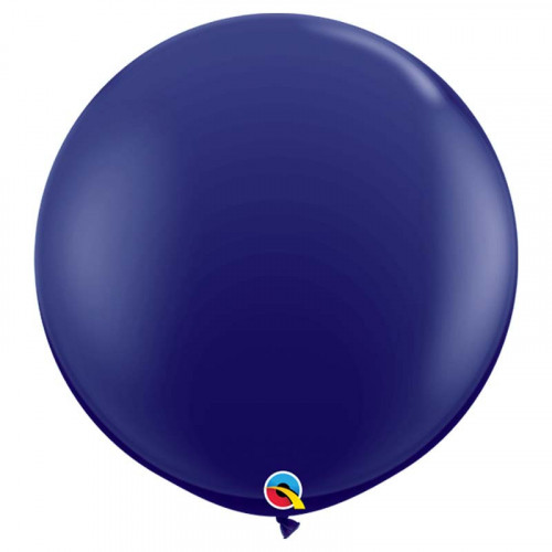 Maxi Pack - Grand ballon rond XL en latex bleu marine 40cm -  Qualatex