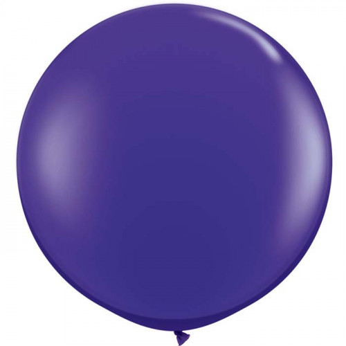Maxi Pack - Grand ballon rond XXL en latex violet nacré 40cm - Qualatex