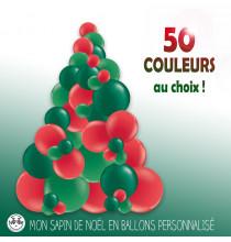 Sapin de Noël en Ballons