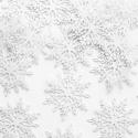 Confetti de table flocons de neige blancs