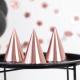 6 Chapeaux de Fête Rose Gold - Animation de fête