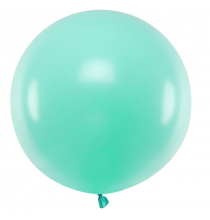 Ballon Jumbo 60cm Latex Vert Mint Pastel Poudré Fête