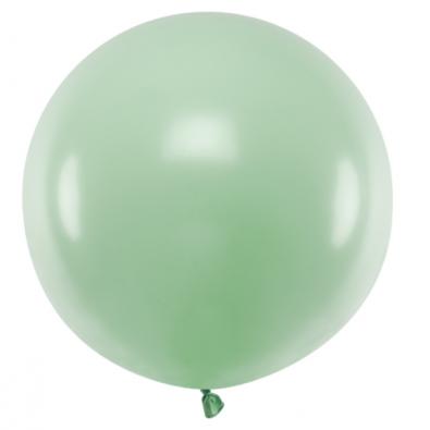 Ballon Jumbo 60cm Latex Vert Pastel Poudré Fête