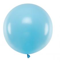 Ballon Jumbo 60cm Latex Bleu Pastel Poudré Fête