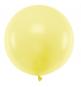 Ballon Jumbo 60cm Latex Jaune Pastel Poudré Fête