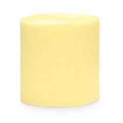 Serpentin papier crépon jaune pastel