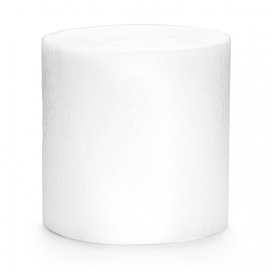 Serpentin Blanc Uni Papier Crépon Décoration de Fête