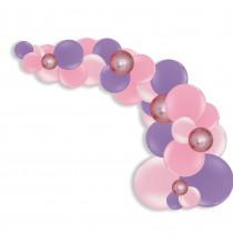 Kit Arche de Ballons Organiques - Modèle Rose et Parme