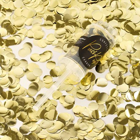 Canon à Confettis dorés - Push up