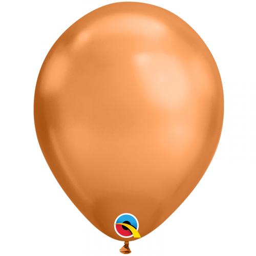 100 Ballons Bronze Chromé - Qualatex Latex Fête