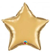 Ballon Etoile Doré Chromé - Décoration