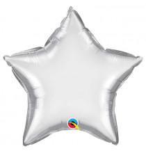 Ballon Etoile Argent Chromé - Décoration de fête