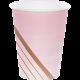 Gobelets Premium Rose pastel et Rose Gold / Rose Cuivré en Papier Premium