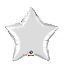 Mini Ballon Alu Etoile Argent - Décoration