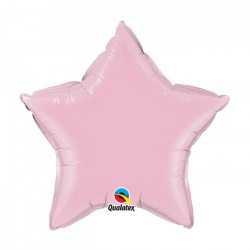 Mini Ballon Alu Etoile Rose Clair - Décoration