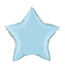 Mini Ballon Alu Etoile Bleu Clair - Décoration