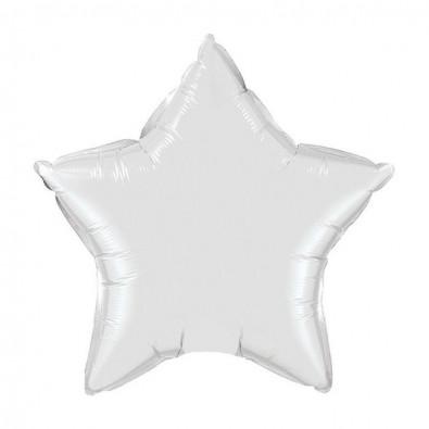 Mini Ballon Alu Etoile Blanc - Décoration