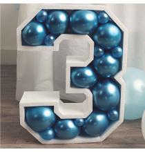 Grande Structure Chiffre Polystyrène + ballons - 50 couleurs au choix