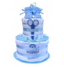 Gâteau de couches garçon  en Pampers